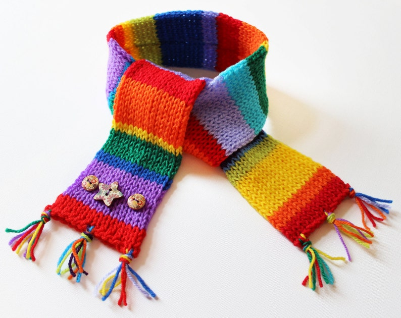 Rainbow Eco Scarf for Kids  Children's Colourful Scarf image 0