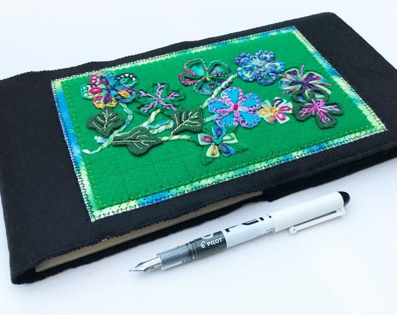 Jungle Flowers Journal Sketchbook  Green Vibrant Floral image 0
