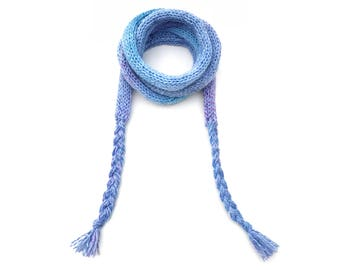 Dusky Blue Spaghetti Scarf - Light Blue Thin Scarf, comfortable and easy-to-wear skinny scarf! Spring scarves - Light Blue Spring scarf