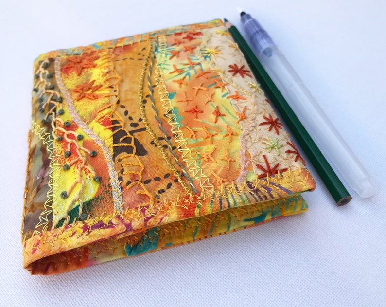 Sunshine Yellow Pocket Notebook  Small Sketchbook with image 0