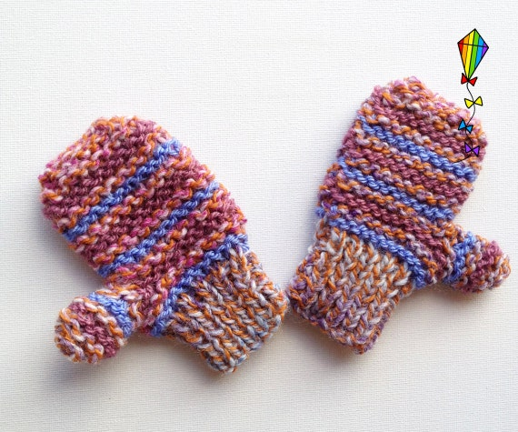 Heather Small Pixie Mittens -- Children's Mittens / Childs Gloves / Kiddies Mitts