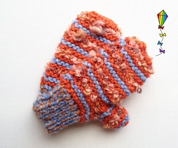 Pumpkin Pixie Mittens - Children's Mitten / Child's Glove / Kiddies' Mitts