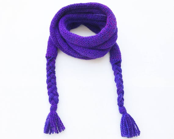 Purple Punch Spaghetti Scarf - Purple Thin Scarf, vibrant purple scarf - funky, skinny scarf! Autumn scarves Spring scarves stocking fillers