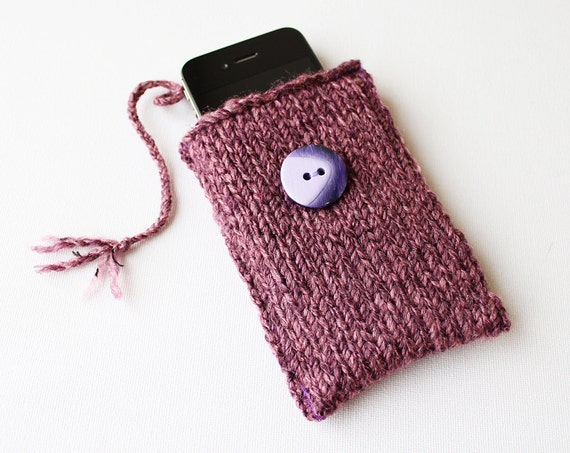 Heather Purple Phone Case or iPod Touch Cozy Pouch - fits iPhone 5S, iPhone 5, iPhone 4, iPhone 4S, iPhone 3GS and iPod Touch