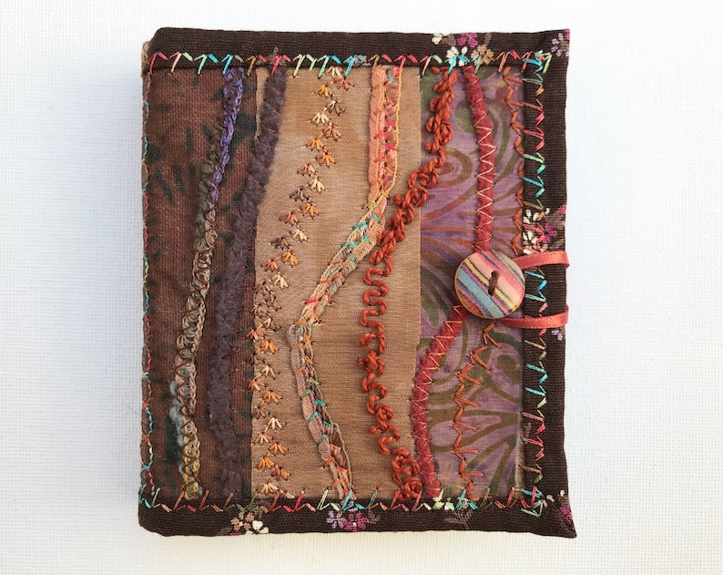 Nutmeg Brown Needle Book  Brown needlework case with image 0