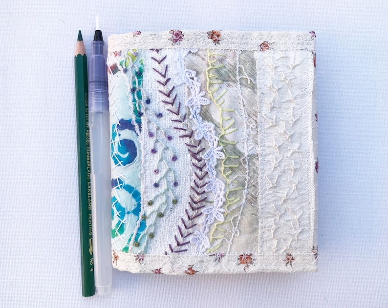 Ivory Pocket Journal  Pocket-sized Notebook with reusable image 0