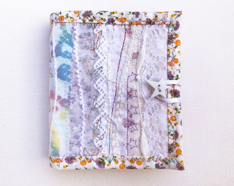 Daisy White Needle Book  Gift for someone who likes to sew  image 0