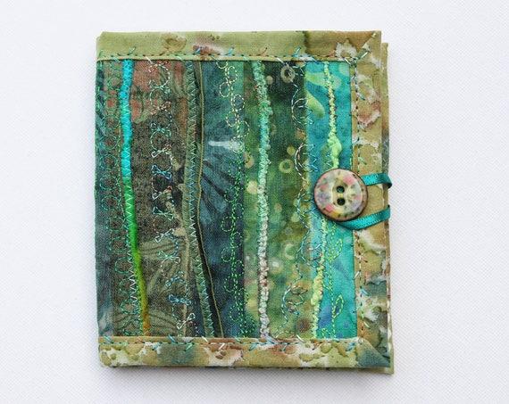 Elven Green Needle Book • Embroidery needlework case • Embroidered Green Needle Books • Sewing organiser, needles case, pins & needles book
