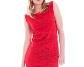 Safety Pin Punk Red Mini Dress Tunic size small