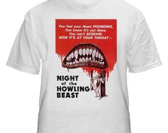 Night of the Howling Beast Horror Movie  Mens White Tshirt S M L XL XXL