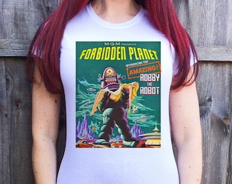 FORBIDDEN PLANET on Various Colours of Ladies Tshirt S M L XL