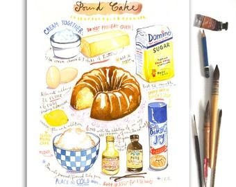 Custom recipe art print, Personalized kitchen print, Customized recipe poster, Kitchen wall art, Mothers day personalized gift, Food art