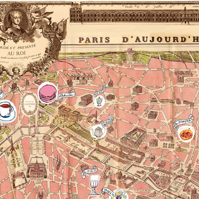 Illustrated Paris map poster, Parisian food watercolor illustration on printable map of paris, simplified map of paris, english map of paris, sports map of paris, interactive map of paris, white map of paris, outlined map of paris, high resolution map of paris, history map of paris, fun map of paris, highlighted map of paris, large map of paris, antique map of paris, watercolor of paris, color map of paris, travel map of paris, detailed street map of paris, photography of paris, religion map of paris, illustration of paris,