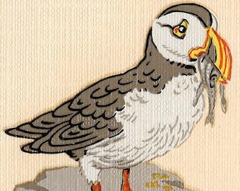 Original Vintage The Sandpiper Iron On Transfer Bird