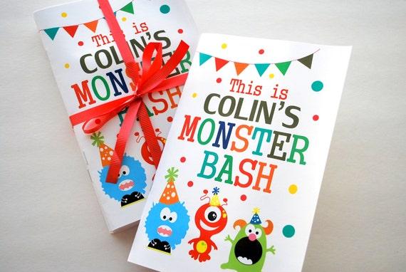 6 Monster Färbung Bücher süße Monster Geburtstag Färbung