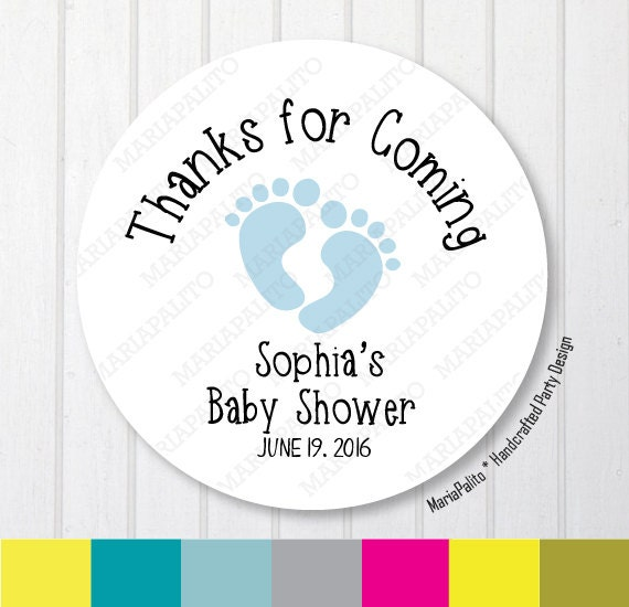 Baby Shower Stickers Thank You Baby Feet Stickers Thank You Etsy