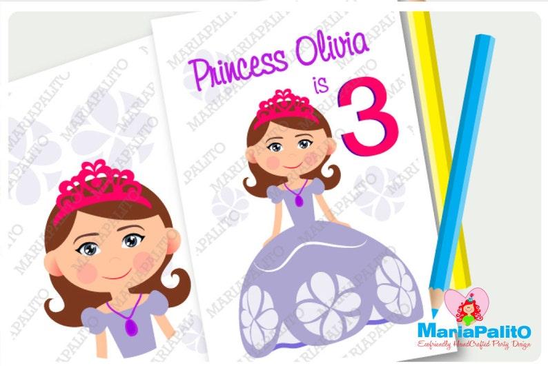 6 Princess Sofia Coloring Books Princess Sofia Inspired | Etsy