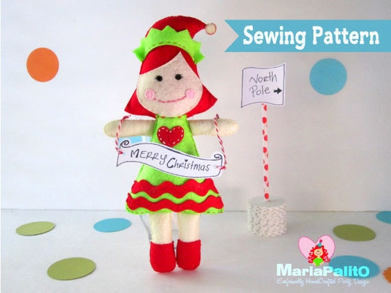 Christmas Elf Sewing Pattern Elf Doll Pattern Instant Etsy