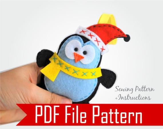 Penguin Pattern Christmas Ornament Felt Penguin Ornament