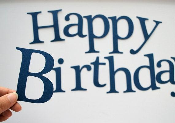 die cut letters happy birthday die cut letters for banner etsy
