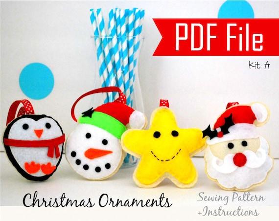 Christmas Ornament Pattern Diy Felt Ornaments Sewing