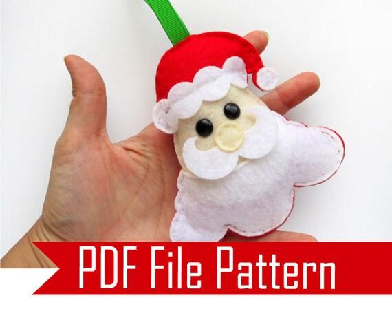 Santa Pattern Christmas Pattern Santa Claus Sewing Etsy