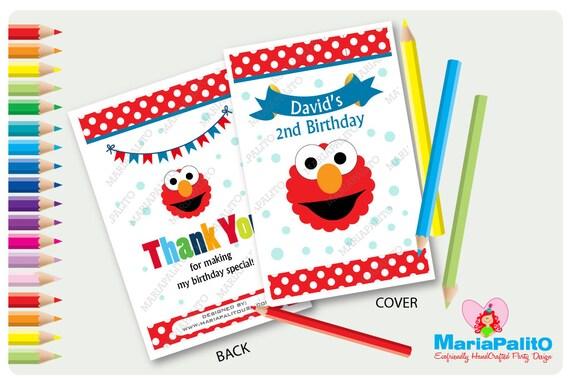 6 Elmo Coloring Books, Personalized Coloring Books, Sesame ...