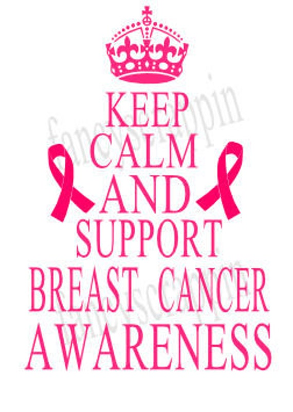 Keep Calm And Support Breast Cancer Awareness SVG Cutting File  fd2522d33