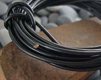Black Leather Cord, Greek Leather Cord, Genuine Leather Cord, 2mm  Leather Cord, Round Leather Cord