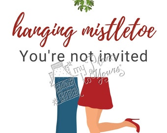 Set of 5 Modern Holiday OPEN HOUSE PRINTABLE Graphics - Ugly sweater, Christmas movie, presents, mistletoe, popcorn, online shopping