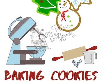 Covid Christmas DO NOT DISTURB Holiday Printable - Baking Cookies