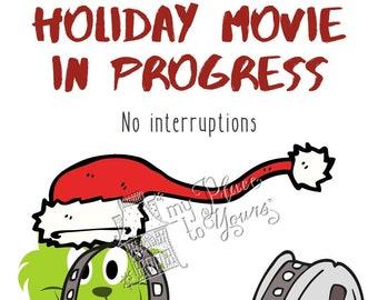 Covid Christmas DO NOT DISTURB Holiday Printable - Grinch Santa
