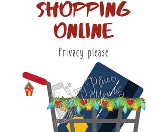 Covid Christmas DO NOT DISTURB Holiday Printable - Online shopping