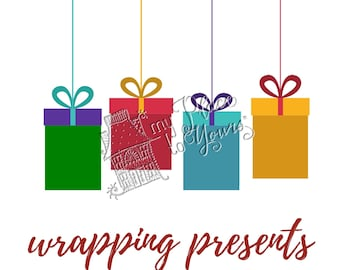 Holiday OPEN HOUSE PRINTABLE - Modern Millenial Christmas - wrapping presents, gifts