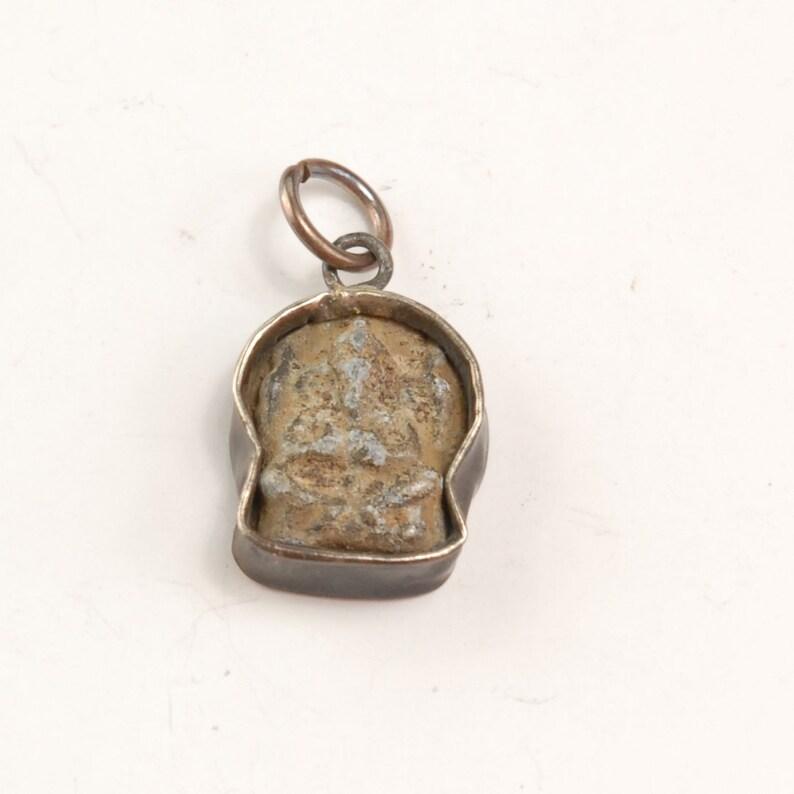 AM626 Brass Ganesh Amulet Pendant with Patina