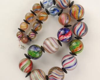 Collectible Venitian Glass Marble Beads
