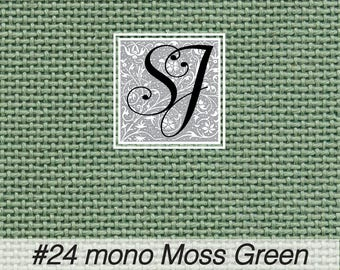 18x25 Zweigart Needlepoint Canvas #24 Congress Cloth MOSS GREEN blank for you to stitch or paint!