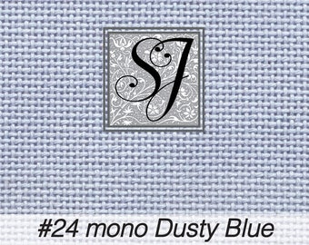 18x25 Zweigart Needlepoint Canvas #24 Congress Cloth DUSTY BLUE blank for you to stitch or paint!