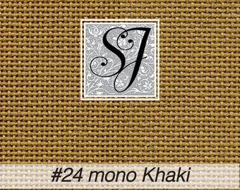 18x25 Zweigart Needlepoint Canvas #24 Congress Cloth KHAKI blank for you to stitch or paint!