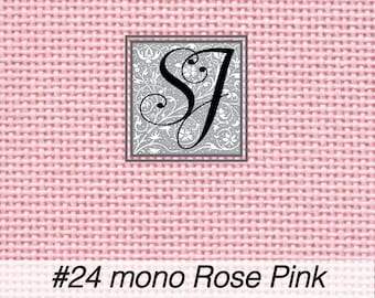 18x25 Zweigart Needlepoint Canvas #24 Congress Cloth ROSE PINK blank for you to stitch or paint!