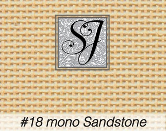 """Zweigart #18 deluxe mono canvas SANDSTONE 18"""" x 20"""" for needlepoint– blank for you to stitch or paint!"""