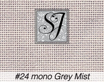 18x25 Zweigart Needlepoint Canvas #24 Congress Cloth GREY MIST blank for you to stitch or paint!