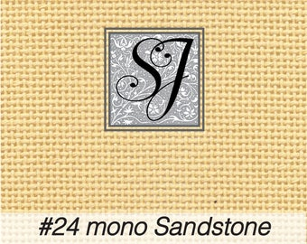 18x25 Zweigart Needlepoint Canvas #24 Congress Cloth SANDSTONE blank for you to stitch or paint!