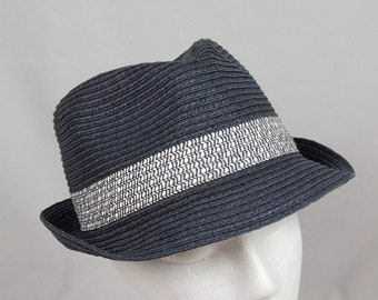 Charcoal Gray Fedora by Van Heusen Men   Women Size Medium Pristine  condition Hipster style d584177c8fa8