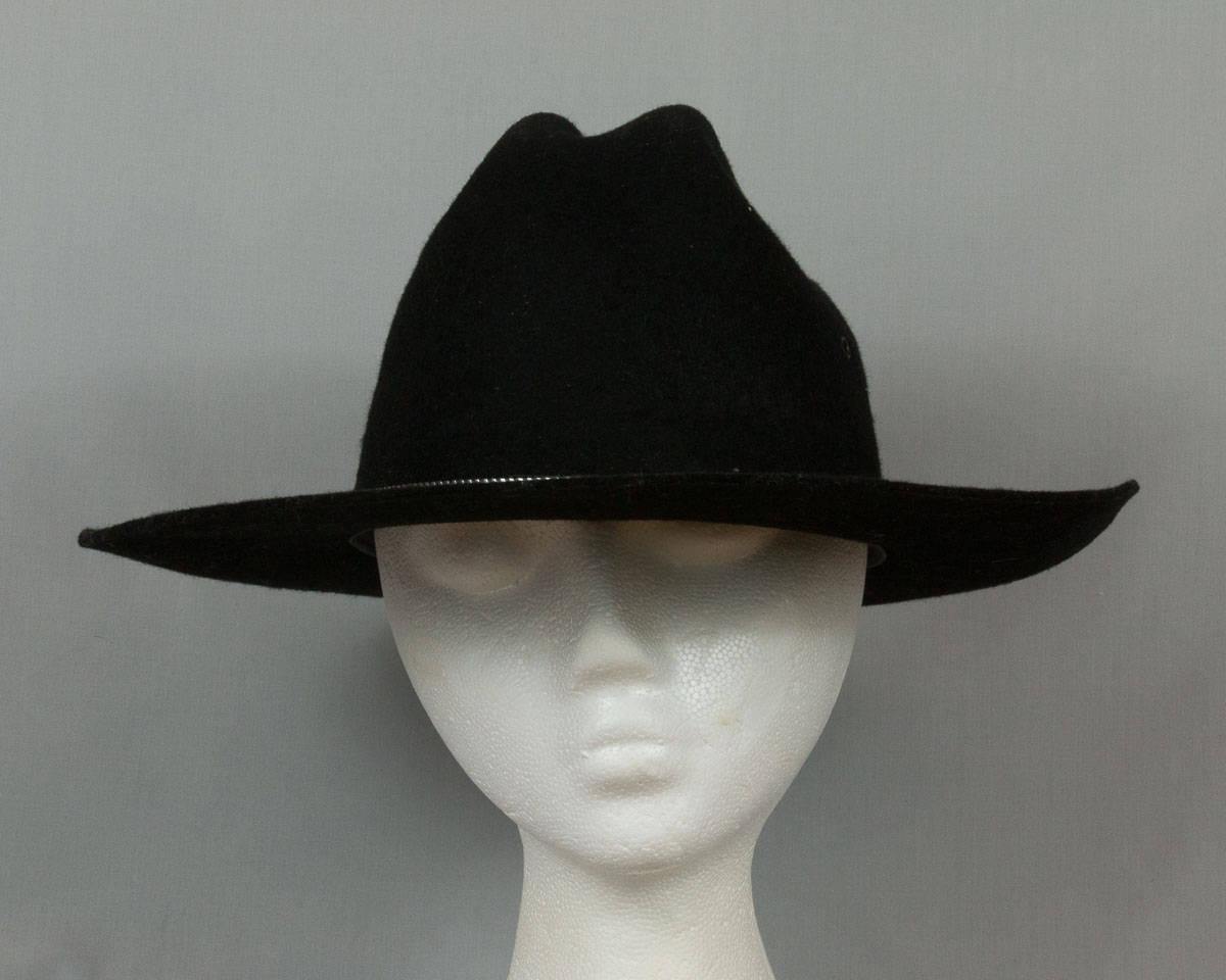 a61145cddbf659 Black western hat Youth large Black wool hat Pristine | Etsy