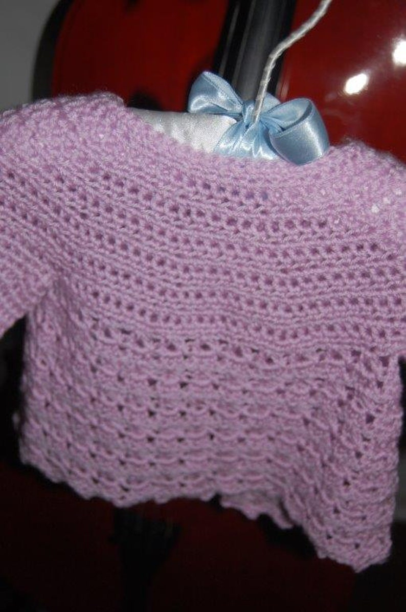 Hand-Crocheted Miss Madeline Baby Sweater