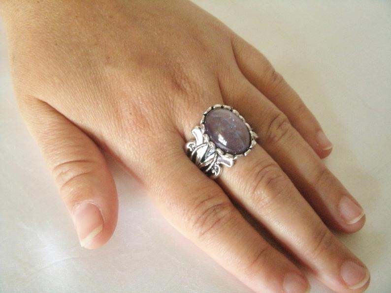 Tanzanite Opal Ring boho jewelry bohemian jewelry gypsy jewelry hippie jewelry new age hippie ring gypsy ring boho ring bohemian ring