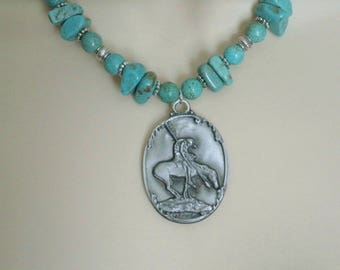 Turquoise Necklace, southwestern jewelry southwest jewelry turquoise jewelry native american jewelry style country western cowgirl wedding