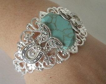 Turquoise Cuff Bracelet, boho jewelry hippie jewelry gypsy jewelry bohemian jewelry hipster new age bracelet bohemian bracelet boho bracelet