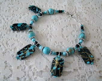 Boho Bracelet, boho jewelry gypsy jewelry bohemian jewelry turquoise jewelry hippie jewelry moroccan hipster new age boho chic bracelet